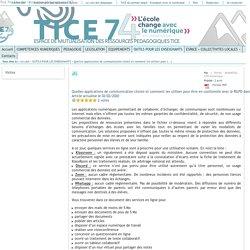 Tice 74 - Site des ressources pédagogiques TICE - Quelles applications de communication choisir et comment les utiliser pour être en conformité avec le RGPD dans le cadre de la liaison école/familles