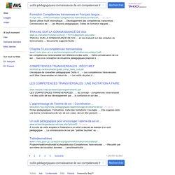 outils pédagogiques connaissance de soi competences transverses - Yahoo Search - Actualités