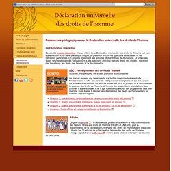 Ressources pédagogiques - Déclaration universelle des droits de l'homme