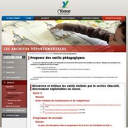 Proposer des outils pédagogiques / Service éducatif / Découvrir / Les archives départementales de l'Yonne