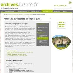 Dossiers pédagogiques en ligne - Archives départementales de la Lozère