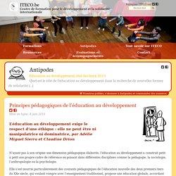 Principes pédagogiques de l'éducation au développement