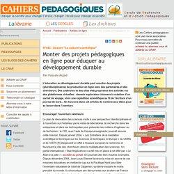 Monter des projets pédagogiques en ligne pour éduquer au développement