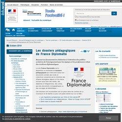 Les dossiers pédagogiques de France Diplomatie