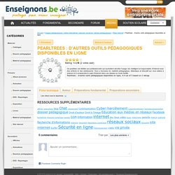 Pearltrees : d'autres outils pédagogiques disponibles en ligne