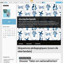 Séquences pédagogiques (cours de néerlandais) - docnederlands
