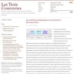 Les méthodes pédagogiques en information-documentation
