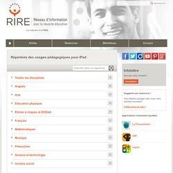 Répertoire des usages pédagogiques pour iPad - Documentation