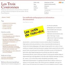 Duplessis : Les méthodes pédagogiques en information-documentation