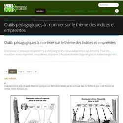 Outils pédagogiques à imprimer sur le thème des indices et empreintes