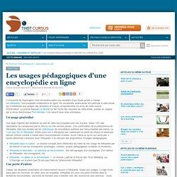 Les usages pédagogiques d'une encyclopédie en ligne
