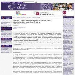 Quelle(s) approche(s) pédagogiques des TIC dans l'Enseignement supérieur au Maroc