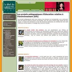 Les projets pédagogiques d'Education relative à l'Environnement (ErE)