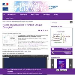 """Fiches pédagogiques """"Français Langue Étrangère"""""""