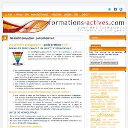 Les objectifs pédagogiques : guide pratique (3/3)