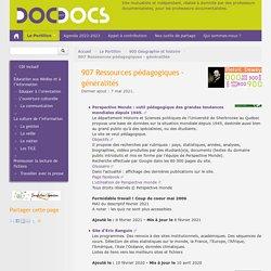 907 Ressources pédagogiques - généralités