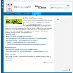 Une ressource : les Cahiers pédagogiques d'IGN-Édugéo-Histoire-géographie-Éduscol