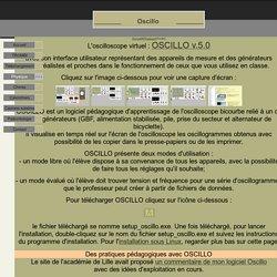 Des logiciels pédagogiques à télécharger gratuitement : OSCILLO