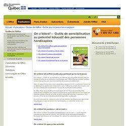 Outils pédagogiques - Office des personnes handicapées du Québec