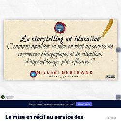 La mise en récit au service des ressources pédagogiques - version mutu by Historicophiles on Genially