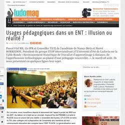Usages pédagogiques dans un ENT : illusion ou réalité ?