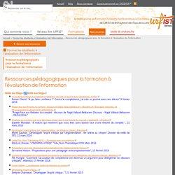 Ressources pédagogiques pour la formation à l'évaluation de l'information