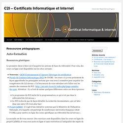 C2I – Certificats Informatique et Internet
