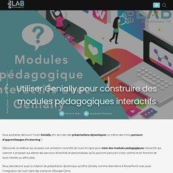 Utiliser Genially pour construire des modules pédagogiques interactifs - Edulab
