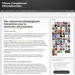 Des séquences pédagogiques interactives pour la recherche documentaire