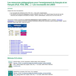Veille sur les ressources pédagogiques pour l'enseignement du/en français (FLE, FOS, DNL...) du 20/10/2020
