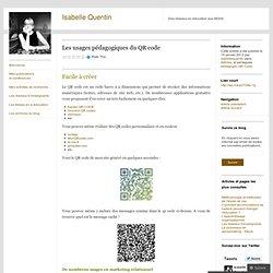 Les usages pédagogiques du QR code