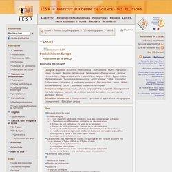 Ressources pédagogiques - Fiches pédagogiques - Laïcité - Les laïcités en Europe