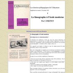 Les dossiers pédagogiques de l'éducateur n°1 : Le Limographe