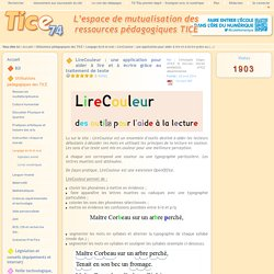Tice 74 - Site des ressources pédagogiques TICE - LireCouleur : une application pour aider à lire et à écrire grâce au traitement de texte