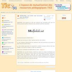 Tice 74 - Site des ressources pédagogiques TICE - MailForKids, une boîte mail sécurisée pour les élèves