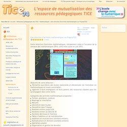 Tice 74 - Site des ressources pédagogiques TICE - Une sélection d'activités mathématiques sur PragmaTICE
