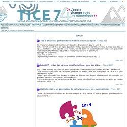 Tice 74 - Site des ressources pédagogiques TICE - Mathématiques