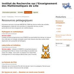 [Maths] IREM de Lille - Ressources pédagogiques