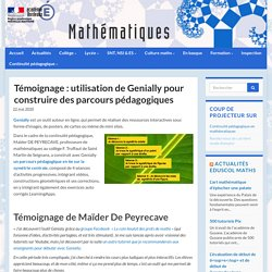 Témoignage : utilisation de Genially pour construire des parcours pédagogiques - Mathématiques - Académie de Bordeaux