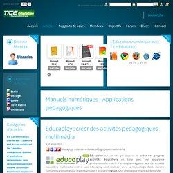 Educaplay : créer des activités pédagogiques multimédia