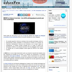 MOOC et classe inversée : Les défis pédagogiques posés par l'ère numérique