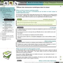 Diffuser des ressources numériques dans la classe