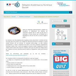 Usages pédagogiques des tablettes numériques - Tablettes numériques - DANE Nice