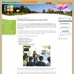 Démarches pédagogiques associées à l'ODS