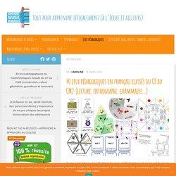 40 jeux pédagogiques en français classés du CP au CM2 (lecture, orthographe, grammaire...)