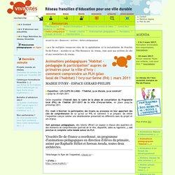"""Animations pédagogiques """"Habitat - pédagogie & participation"""" auprès de primaires pour la ville d'Ivry : comment comprendre un PLH (plan local de l'habitat) ? Ivry-sur-Seine (94)"""