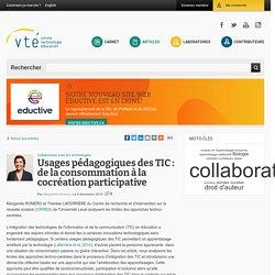 Usages pédagogiques des TIC : de la consommation à la cocréation participative