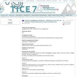 Tice 74 - Site des ressources pédagogiques TICE - Scénario pédagogique (tablettes) : Réalisation d'un livre de recette à l'aide de Bookcreator (école du Seyssel CP)