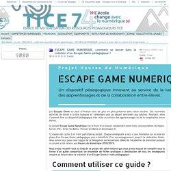 Tice 74 - Site des ressources pédagogiques TICE - ESCAPE GAME NUMERIQUE, comment se lancer dans la création d'un Escape Game pédagogique ?