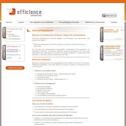 Jeux pédagogiques - Efficience Ressources formations personnalisées intra entreprise.